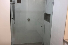 Frameless front only Showerscreen