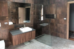 Walk in frameless Showerscreen